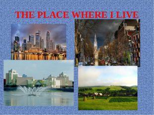 THE PLACE WHERE I LIVE