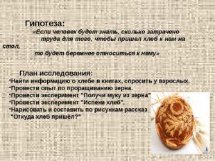 Гипотеза: «Если человек будет знать, сколько затрачено труда для того, чтобы