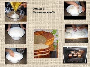 Опыт 3 Выпечка хлеба