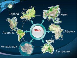 Жер Азия Европа Африка Австралия Америка Антарктида