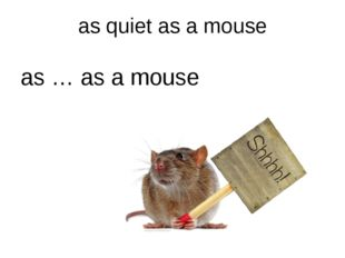 as quiet as a mouse as … as a mouse