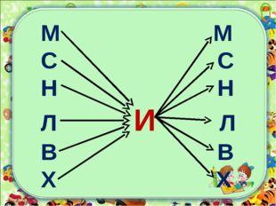 М М С С Н Н Л И Л В В Х Х