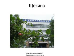 Щекино учитель начальных классов Зайцева Н.А. МОБУ СОШ №14 г. Богородицка