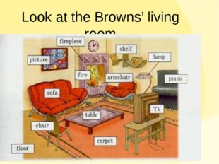 Look at the Browns' living room