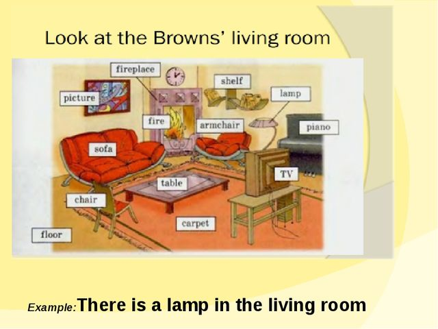 Example:There is a lamp in the living room