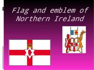 Flag and emblem of Northern Ireland