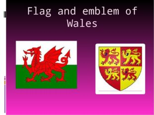 Flag and emblem of Wales