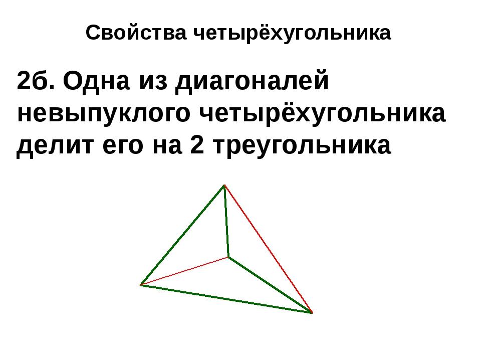 Свойства четырёхугольника 2б. Одна из диагоналей невыпуклого четырёхугольника...