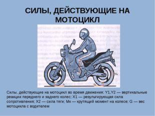 СИЛЫ, ДЕЙСТВУЮЩИЕ НА МОТОЦИКЛ Силы, действующие на мотоцикл во время движения