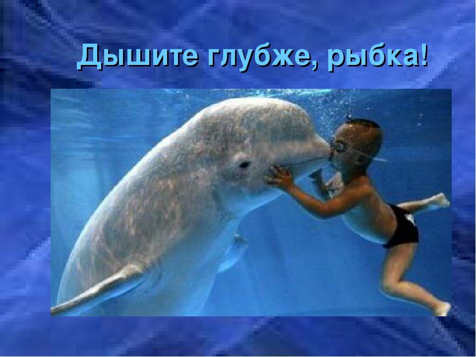 Дышите глубже, рыбка!