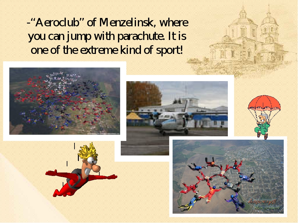 "-""Aeroclub"" of Menzelinsk, where you can jump with parachute. It is one of th..."