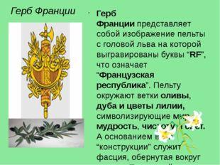 Герб Франции Герб Франциипредставляет собой изображение пельты с головой льв