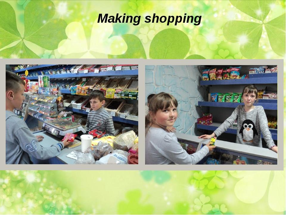 Making shopping