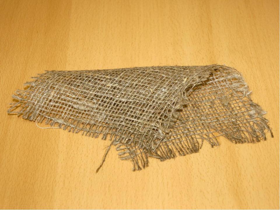Ткань состоит из нитей. Если посмотреть на ткани сквозь увеличительное стекло...