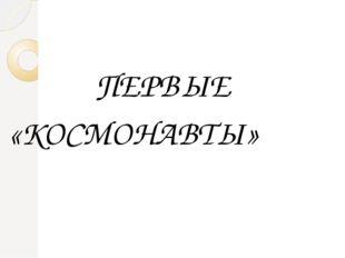ПЕРВЫЕ «КОСМОНАВТЫ»