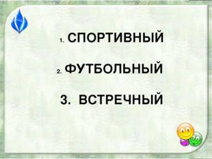 СПОРТИВНЫЙ ФУТБОЛЬНЫЙ 3. ВСТРЕЧНЫЙ