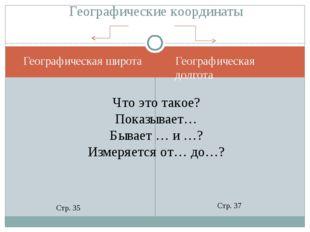 Географическая широта Географическая долгота Географические координаты Что эт