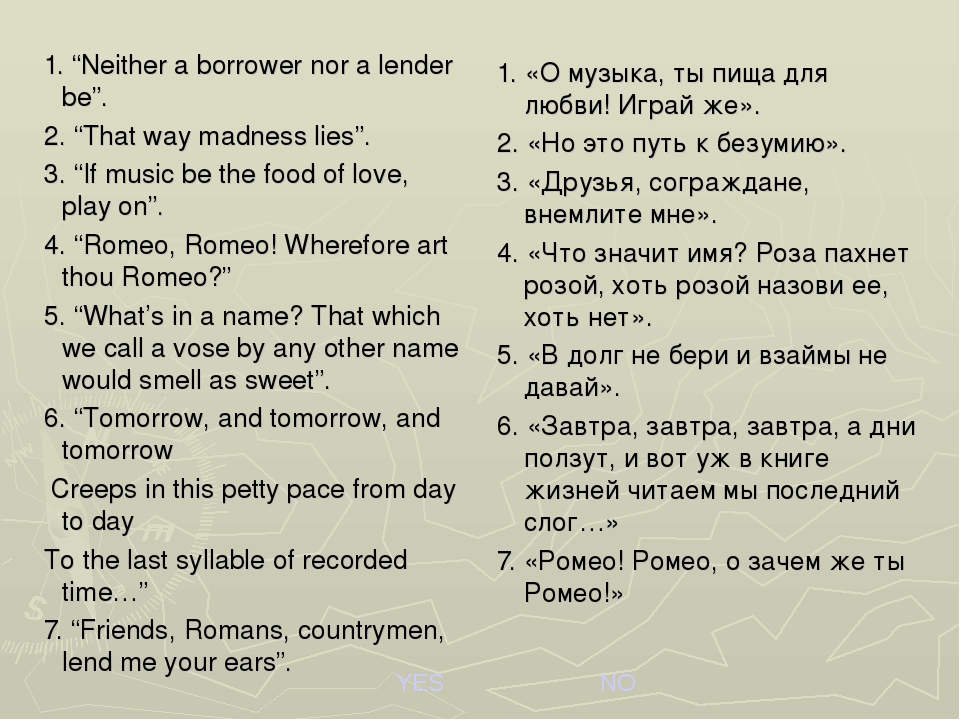 "1. ""Neither a borrower nor a lender be"". 2. ""That way madness lies"". 3. ""If m..."