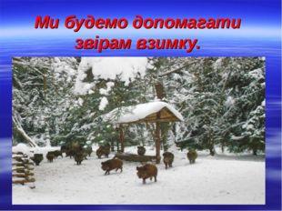 Ми будемо допомагати звірам взимку.