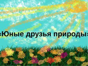 «Юные друзья природы»