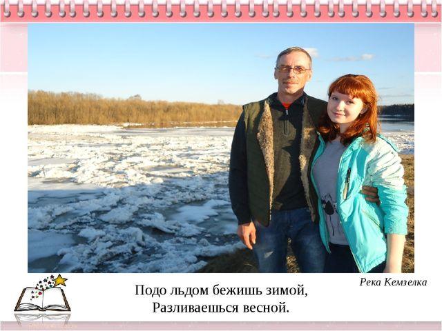 Подо льдом бежишь зимой, Разливаешься весной. Река Кемзелка