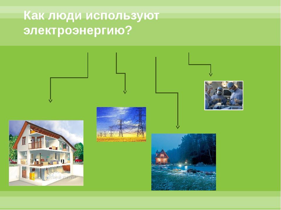 Как люди используют электроэнергию?