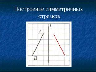 Построение симметричных отрезков  А'  В'