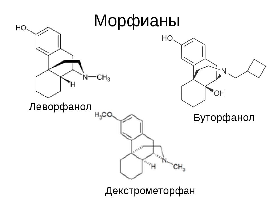Морфианы Леворфанол Буторфанол Декстрометорфан