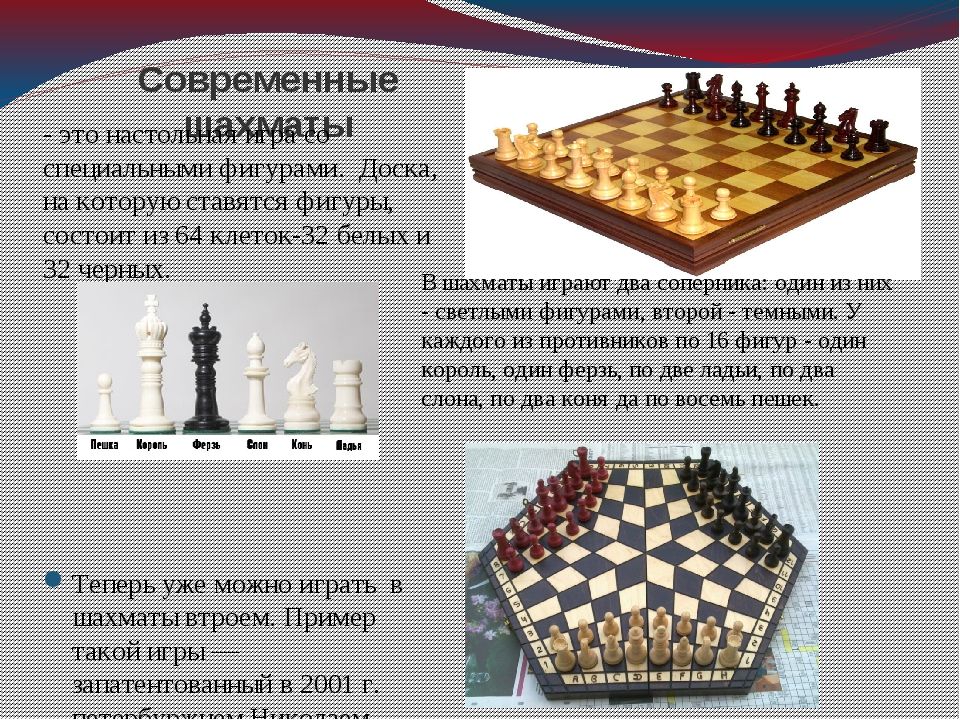 Современные шахматы - это настольная игра со специальными фигурами. Доска, на...