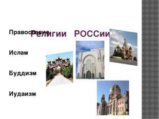Религии РОССии Православие Ислам Буддизм Иудаизм
