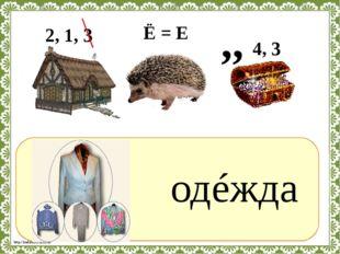 ? одéжда Ё = Е 2, 1, 3 ,, 4, 3 http://linda6035.ucoz.ru/