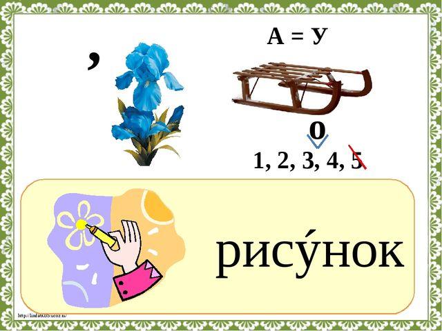 ? рисýнок , А = У 1, 2, 3, 4, 5 о http://linda6035.ucoz.ru/