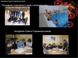 Посещение спортивного парка «Алексеевский» Заседание Совета Старшеклассников