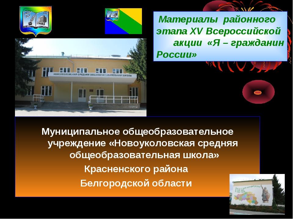 Материалы районного этапа XV Всероссийской акции «Я – гражданин Росси...