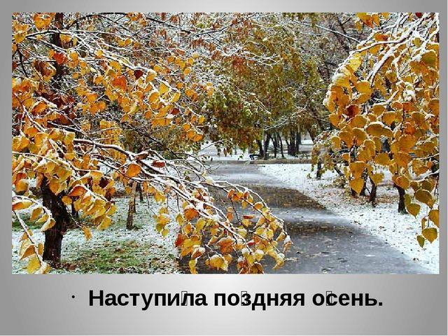 Наступи́ла по́здняя о́сень.