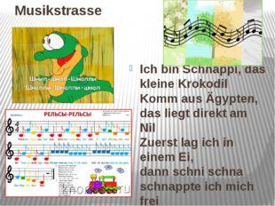 Musikstrasse Ich bin Schnappi, das kleine Krokodil Komm aus Ägypten, das lie