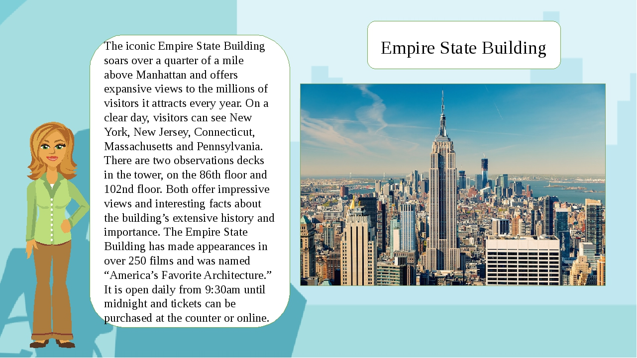 Empire State Building The iconic Empire State Building soars over a quarter o...