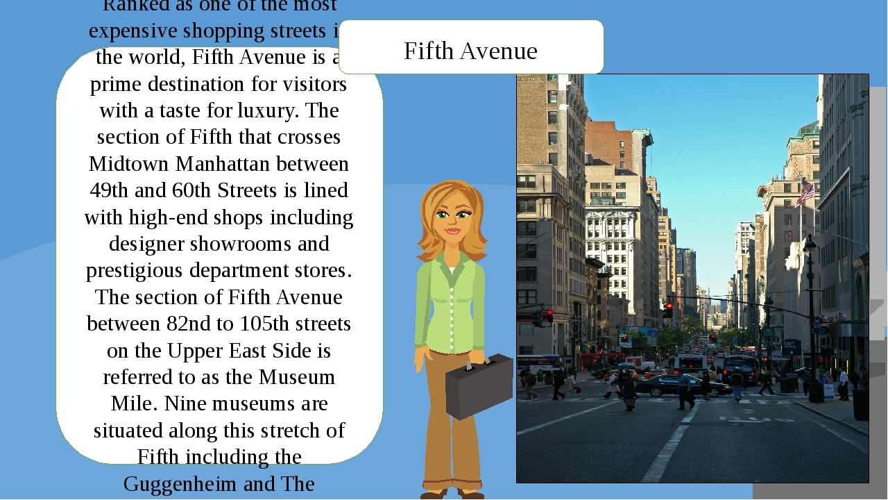 Ranked as one of the most expensive shopping streets in the world, Fifth Aven...