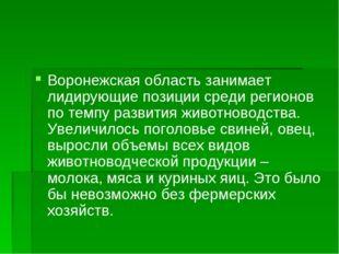 Воронежская область занимает лидирующие позиции среди регионов по темпу разви