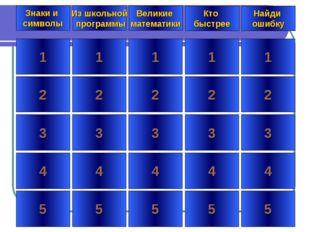 * 1 2 3 4 5 1 2 3 4 5 1 2 3 4 5 1 2 3 4 5 1 2 3 4 5 Знаки и символы Из школьн