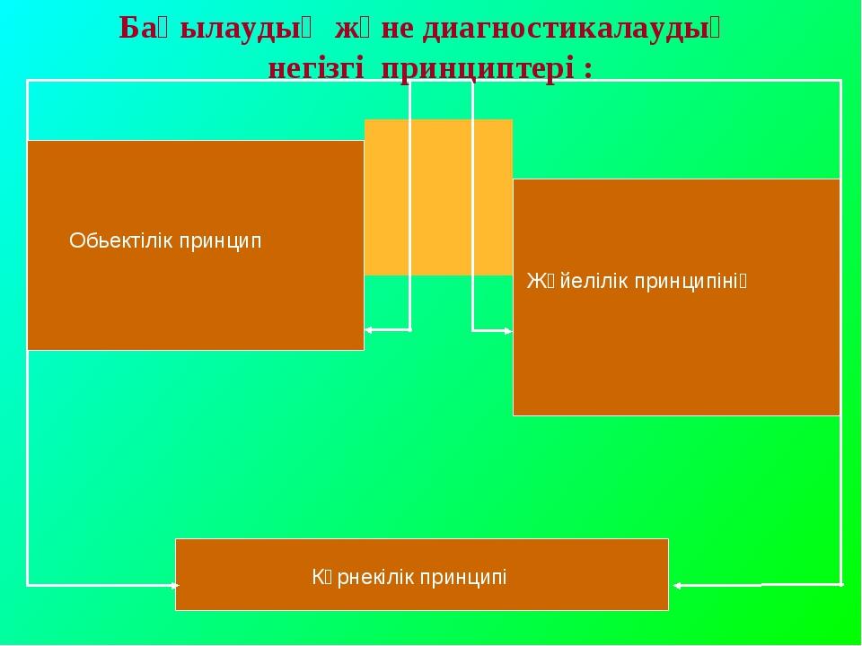Бақылаудың және диагностикалаудың негізгі принциптері : Обьектілік принцип Жү...