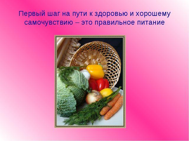 Первый шаг на пути к здоровью и хорошему самочувствию – это правильное питание