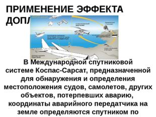 ПРИМЕНЕНИЕ ЭФФЕКТА ДОПЛЕРА В Международной спутниковой системеКоспас-Сарсат,