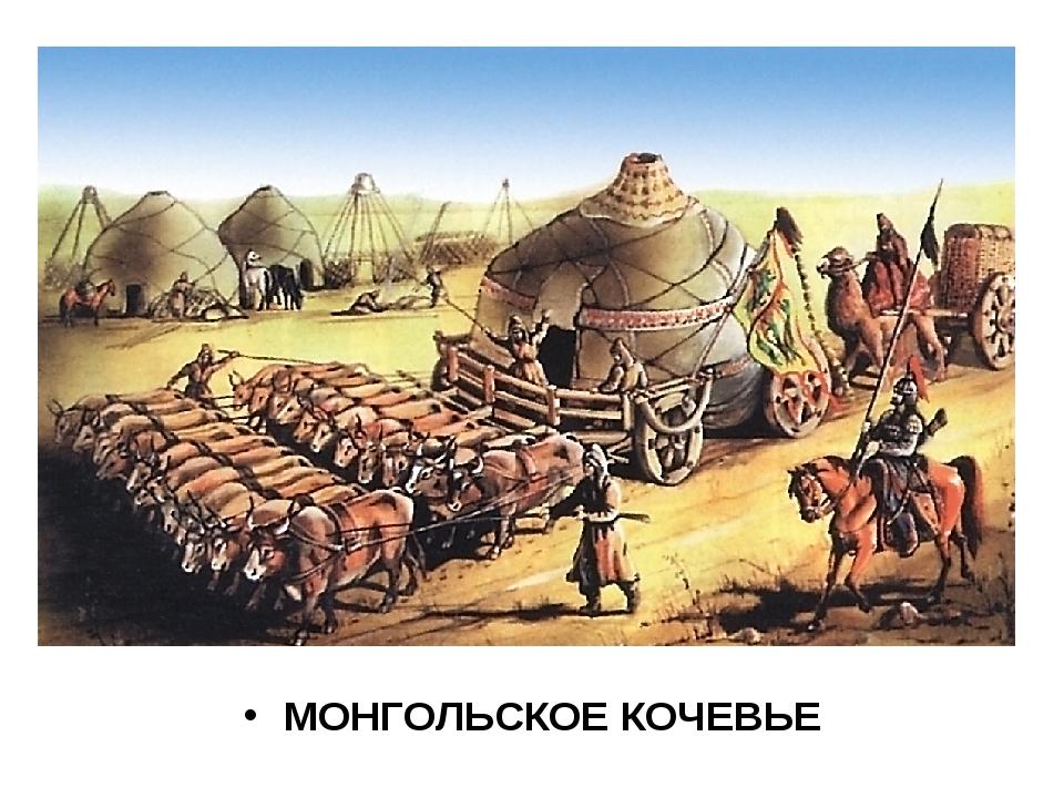 МОНГОЛЬСКОЕ КОЧЕВЬЕ