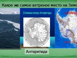 Антарктида Какое же самое ветреное место на Земле? Антарктида