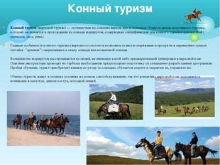 Конный туризм (верховой туризм) — путешествие на лошадях верхом или в экипажа
