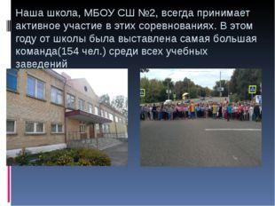 Наша школа, МБОУ СШ №2, всегда принимает активное участие в этих соревнования