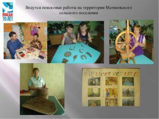 Ведутся поисковые работы на территории Матвеевского сельского поселения