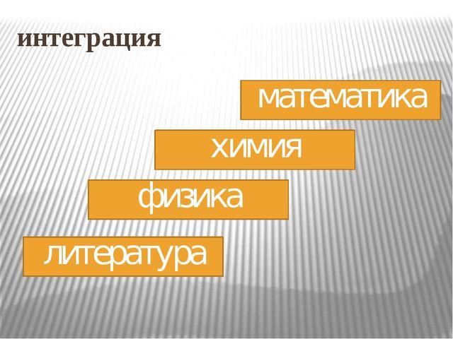 интеграция математика химия физика литература