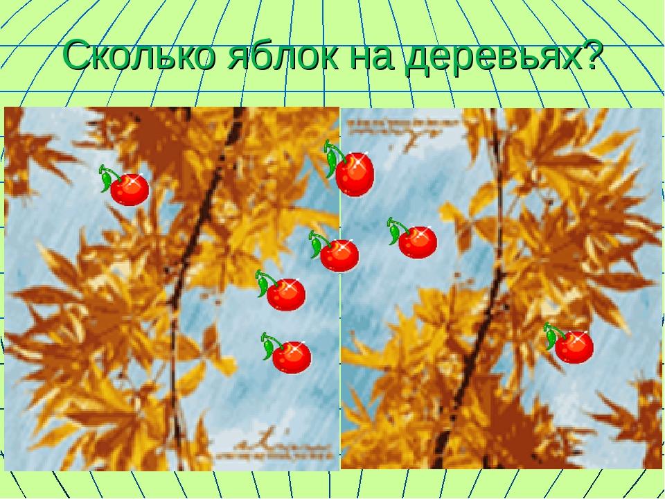 Сколько яблок на деревьях?